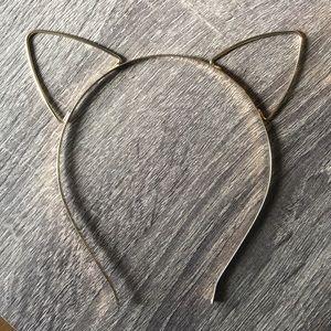 Gold Cat Ears Headband