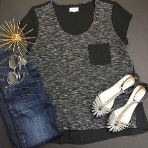 Lou & Grey Tops - Lou & Grey Sheer Pocket Shirt