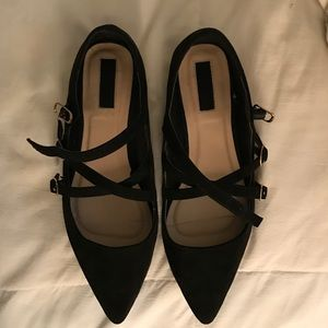 Forever 21 Shoes - Strappy Black Flats