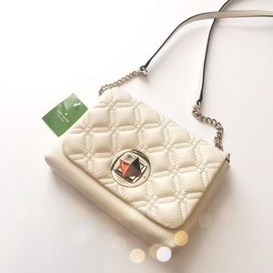 NWT Kate Spade Cream Quilted Crossbody