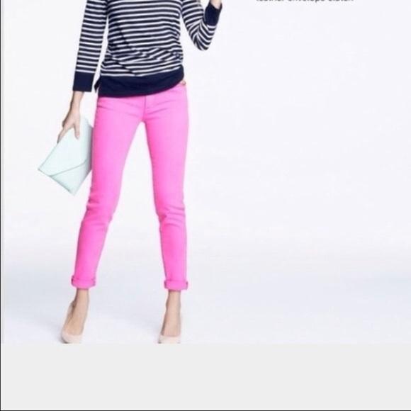 J. Crew Denim - J. Crew hot pink toothpick stretch jeans
