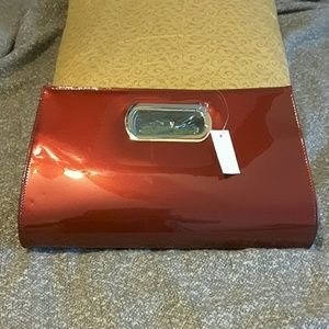 Red ( wine) clutch purse