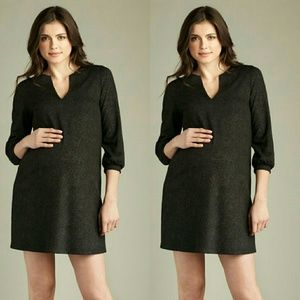 Maternal America Dresses & Skirts - Maternal America 3/4 Sleeve Shimmer Shift Dress S