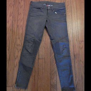 H&M Gray Moto Skinny Jeans Sz 6