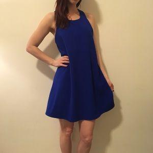 JOA Dresses & Skirts - JOA Royal Blue Sleeveless Skater Dress