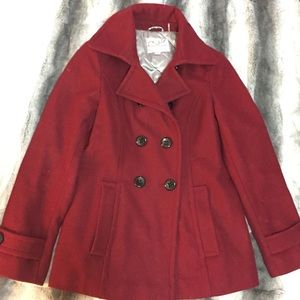 Jackets & Blazers - Red/burgundy pea coat