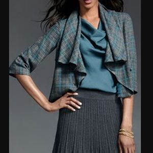 CAbi Jackets & Blazers - CAbi plaid shawl