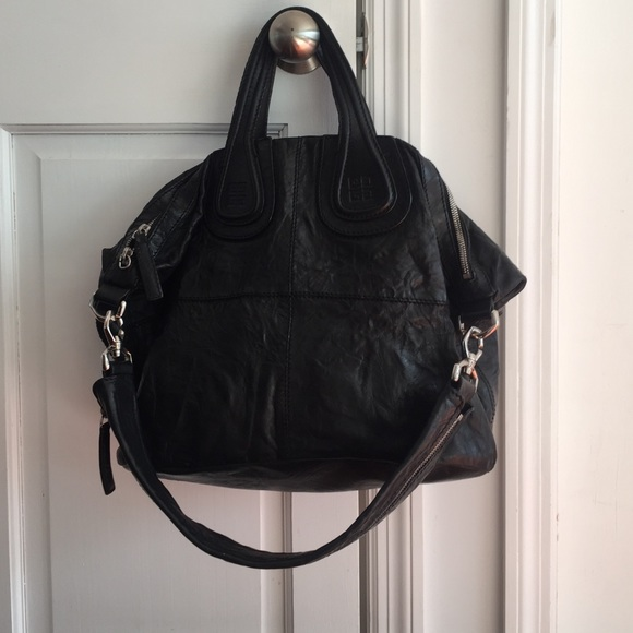 ca0290333a Givenchy Handbags - Givenchy Nightingale black crinkled leather