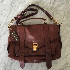 Proenza Schouler Handbags - Proenza Schouler Medium PS 1 Oxblood/Gold