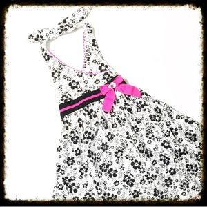 Youngland Other - ❎3/$15 Black & White Floral Halter Dress 6X