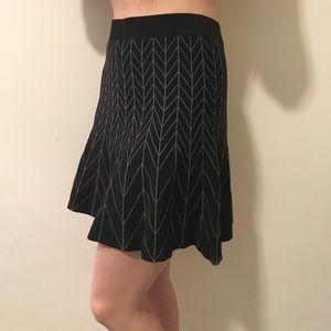 Sophie Max Dresses & Skirts - Sophie Max Grey Zig Zag Skater Skirt