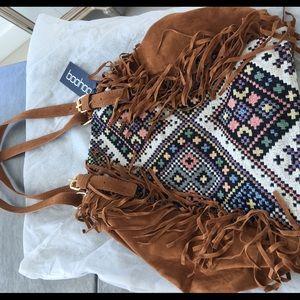 Boohoo Boho bag with fringe