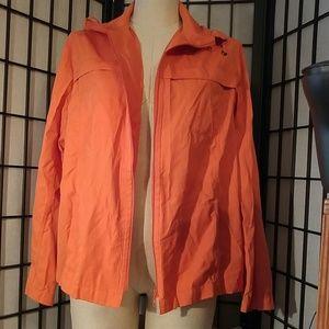 Chico's Orange Wind Hoodie/Jacket Size 2(12)