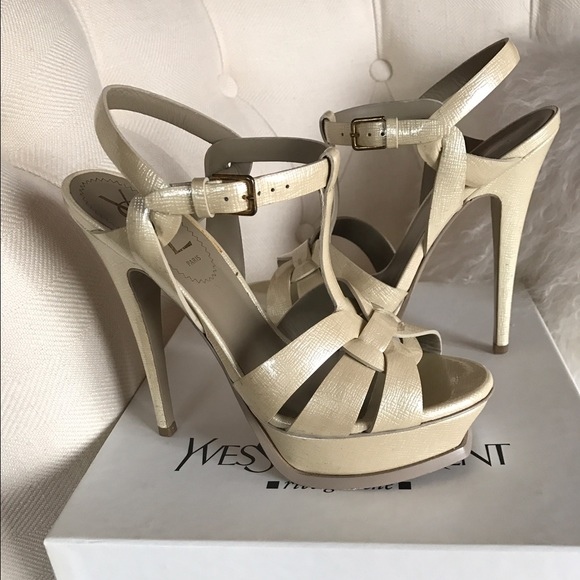5be22ae200a Saint Laurent Shoes   Ysl Tribute Sandals Cordanude Patent Size 36 ...