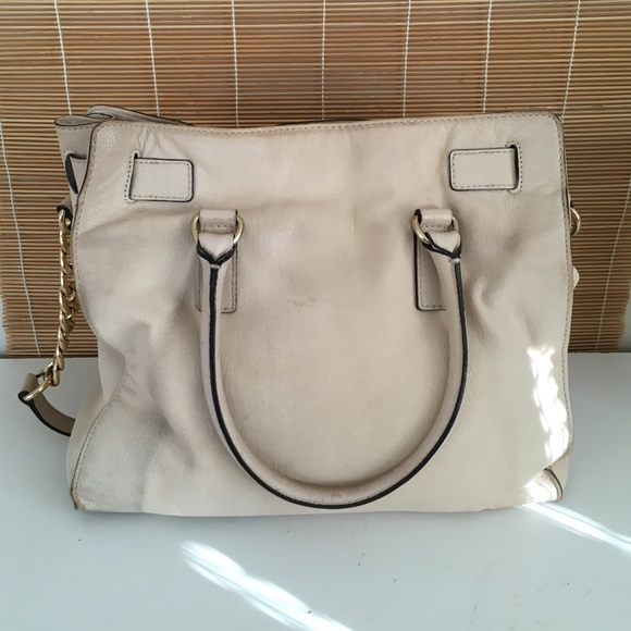 51e98e171ded ... Michael Kors Bags - MK Hamilton cream leather ...