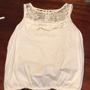 Gilly Hicks Tops - Gilly hicks lace white tank