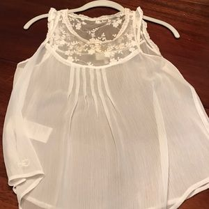 Gilly Hicks Tops - Shear white lace gilly hicks tank
