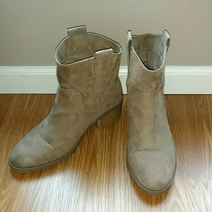 Like New Merona Western Ankle Boots - Worn once.