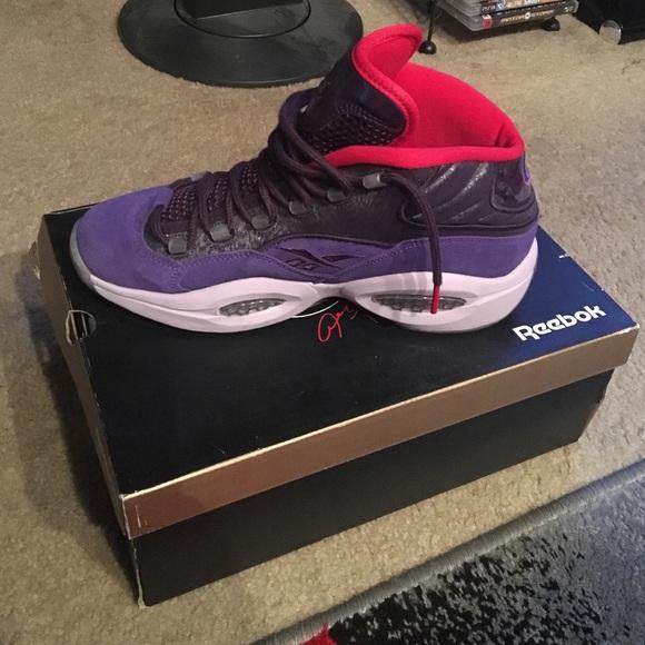 Purple And Red Allen Iverson Reebok