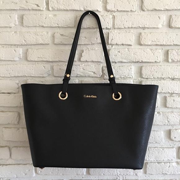 ef8def09ff Calvin Klein Handbags - Calvin Klein Saffiano Leather Bag