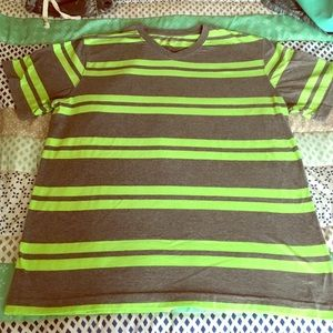 No Boundaries Other - Neon Green Striped T-Shirt