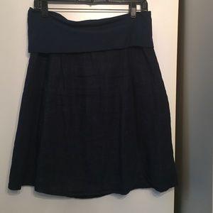 Allen Allen Dresses & Skirts - Allen Allen navy linen skirt