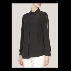 Equipment Tops - Equipment 100% Silk Blouse with Slit on Sleeves