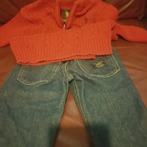 Polo sweater and polo jeans