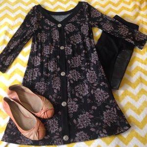 Dresses & Skirts - Floral Sweater Dress