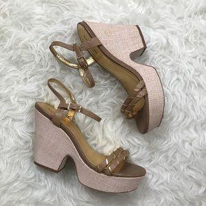 Kate Spade Raffia Platform Sandals