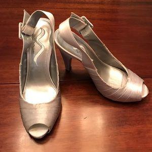 Nina Shoes - Nina silver dress heels
