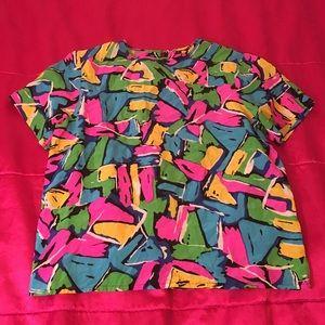 90's Color Block Blouse