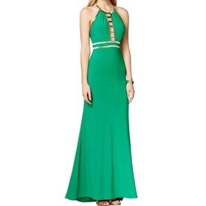 Xscape Dresses & Skirts - NWT green gown with gold sequin