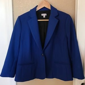 A Pea in the Pod Jackets & Blazers - A Pea In The Pod Maternity Blue Blazer/Jacket M