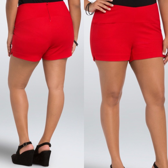 44% off torrid Pants - TORRID RED HIGH-WAISTED SHORTS SIZE 18 from ...
