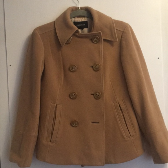 100% quality attractive colour save off Express Wool winter Coat Caramel size 10