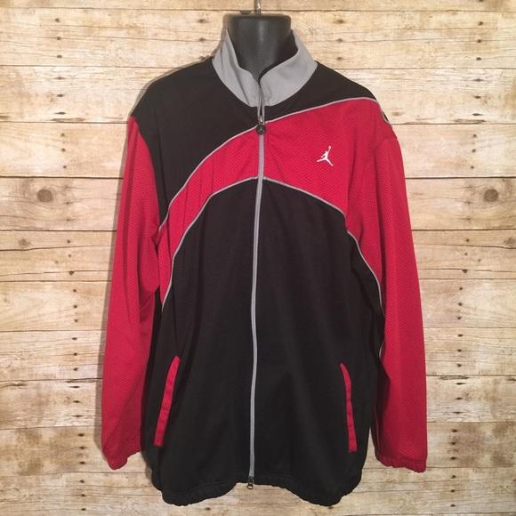 161a633473cb74 Nike Air Jordan Red Black Grey Track Jacket. M 5883c23a2ba50a38c1015c34
