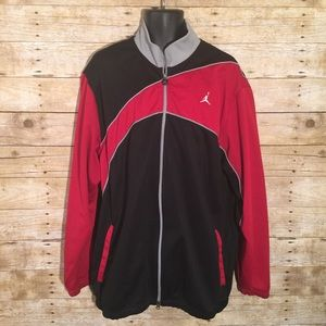 Jordan Other - Nike Air Jordan Red Black Grey Track Jacket
