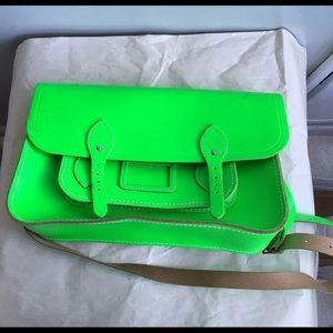 "Cambridge Satchel Handbags - Cambridge Satchel Company 15"" Neon Green Satchel"