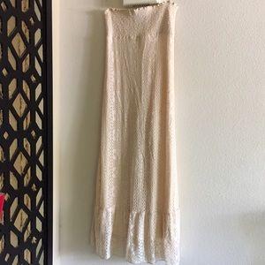 NWOT CROCHET MAXI BEIDGE DRESS
