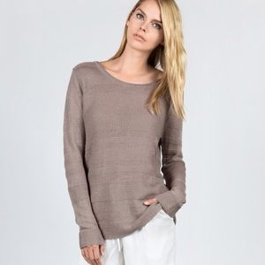 Miilla Clothing Sweaters - 🆕 Long Sleeve Striped Linen Sweater