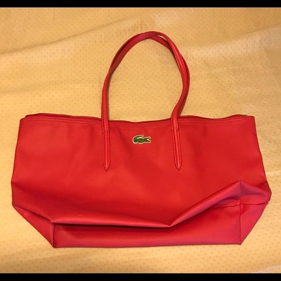 7c219dccf6c Lacoste Handbags - Lacoste Concept Large Zip Tote Bag