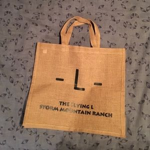 Handbags - Burlap tote from Storm Mtn Ranch - FREE with 2+