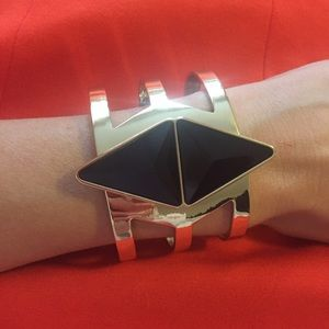 NWT ASOS black and gold statement cuff bracelet