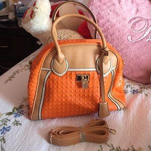 Fair Lady Handbags - Fair Lady Orange Shoulder Strap Handbag