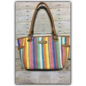 Rosetti® Savannah Garden Colorful Straw-look Tote