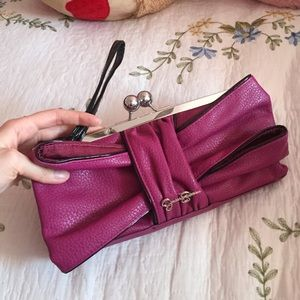 Jessica Simpson Handbags - Jessica Simpson Purple Wristlet Clutch