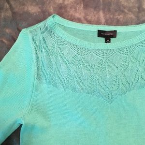 Teal Sweater from The limited