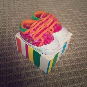 Agatha Ruiz De La Prada Other - Agatha Ruiz de la Prada Baby pink velvet sneakers