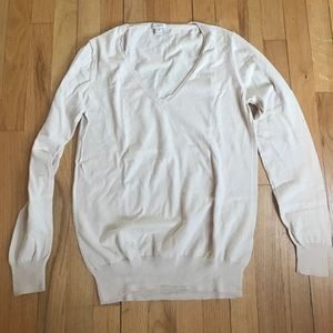J. Crew Sweaters - J Crew cotton v neck sweater M cream